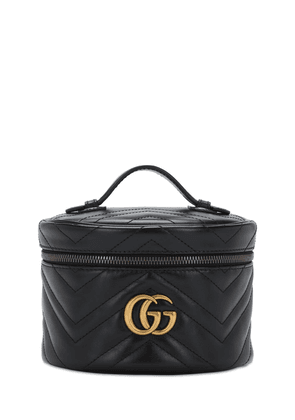 Gg Marmont Leather Beauty Bag