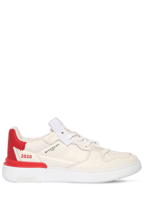 Wing Leather Sneakers W/ Zig-zag