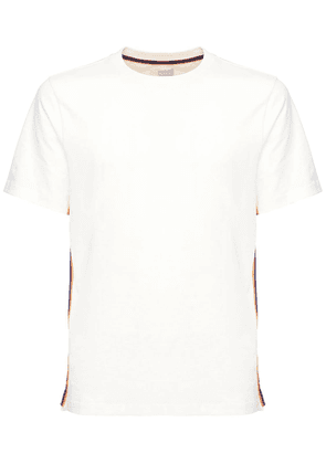 Cotton Jersey T-shirt W/ Side Bands