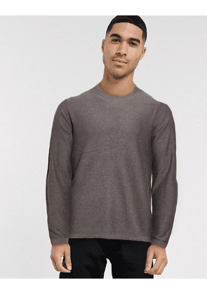 Jack & Jones lightweight crew neck knitted jumper-White