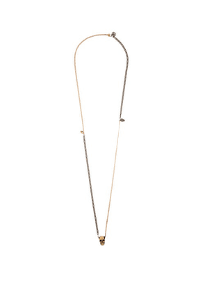 Alexander Mcqueen - Skull Charm Two-tone Necklace - Mens - Silver Gold