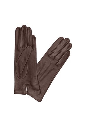 Dents Brown Silk-lined Leather Gloves