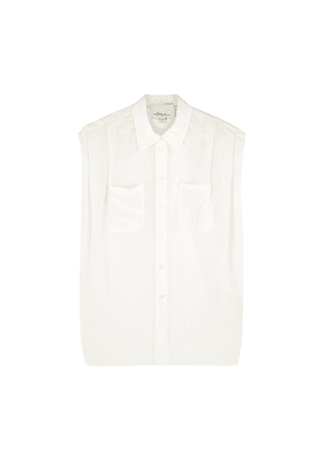 3.1 Phillip Lim Ivory Pleated Voile Shirt