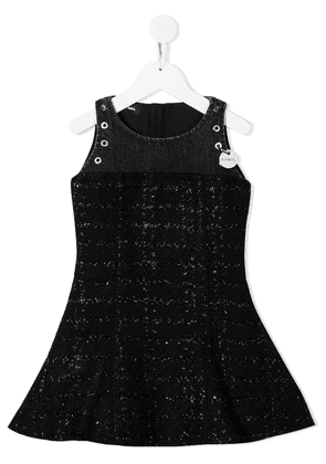 Diesel Kids metallic knit tweed dress - Black