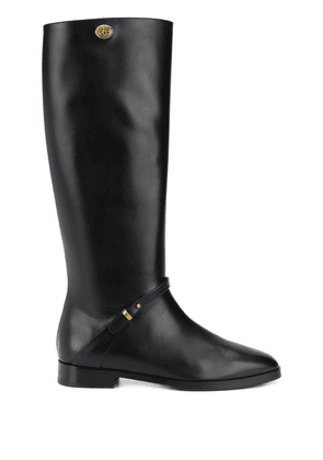 Gucci calf-length leather boots - Black