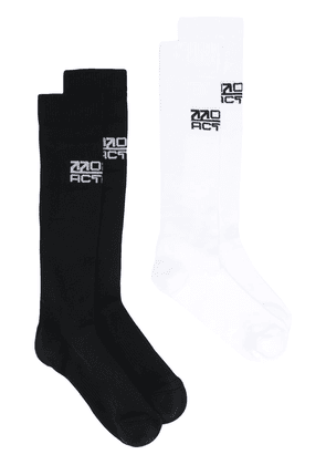 Off-White Active logo socks (2 pairs) - Black