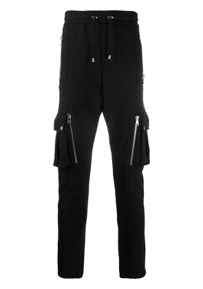 Balmain multi-pocket slim fit track pants - Black