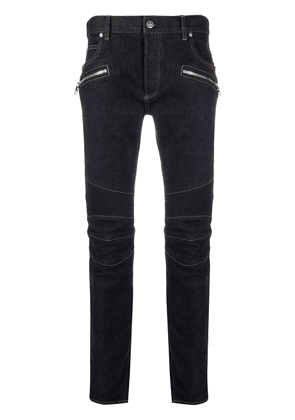 Balmain low-rise articulated denim jeans - Blue