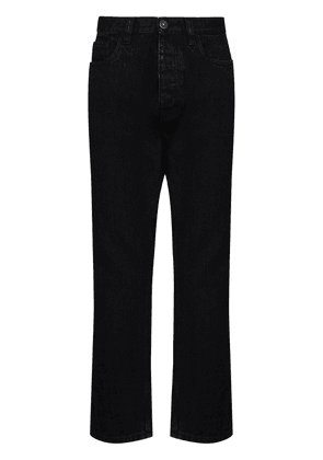 Prada high-waist tapered-leg jeans - Black