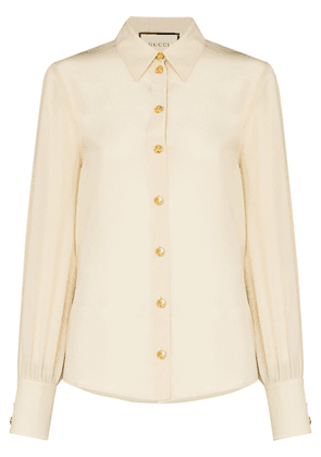 Gucci long-sleeve button-up blouse - White