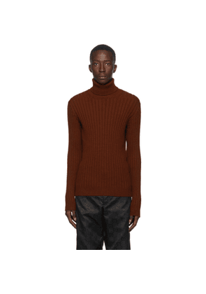 Gucci Burgundy Alpaca and Wool Turtleneck
