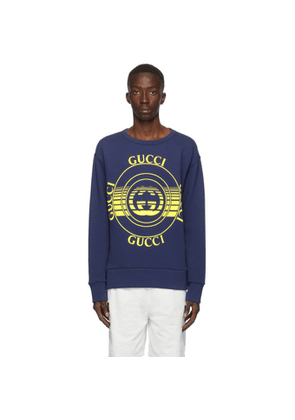 Gucci Blue Interlocking G Crewneck Sweatshirt