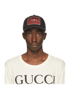 Gucci Black Whatever The Season Label Baseball Cap