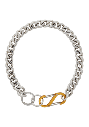 Martine Ali Silver and Yellow Cuban Choker
