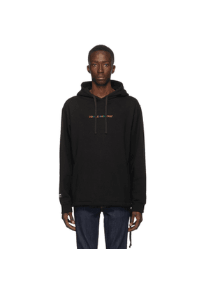 Double Rainbouu Black Logo Couch Surf Hoodie