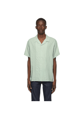 Double Rainbouu Green Perforated Short Sleeve Shirt