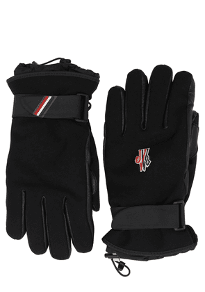 Logo Canvas & Leather Gloves