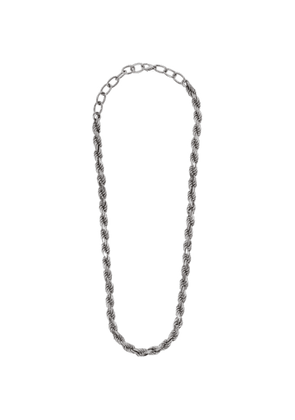 Bottega Veneta Silver Curb Necklace