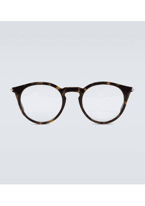 Circular frame acetate glasses