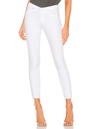 AG Adriano Goldschmied Legging Ankle in White. Size 24,28,30.