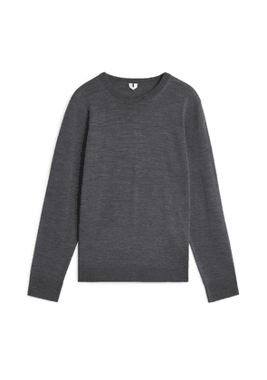 Fine Knit Merino Jumper - Grey