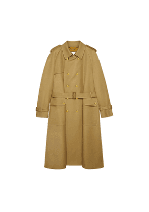 Wool trench coat with Gucci Boutique