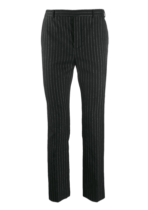 Saint Laurent metallic striped tailored trousers - Black