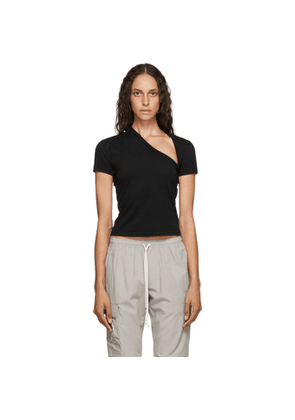 John Elliott Black Asymmetric T-Shirt