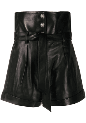 IRO Kolka wide-leg leather shorts - BLA01