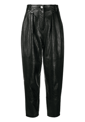 IRO Menden straight-leg leather trousers - BLA01
