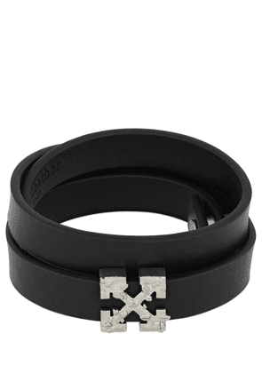 Double Wrap Arrow Leather Bracelet