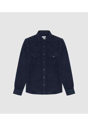 Reiss Miami - Twin Pocket Overshirt in Navy, Mens, Size XS