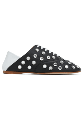 Acne Studios Convertible Crystal-studded Two-tone Leather Brogues Woman Black Size 35
