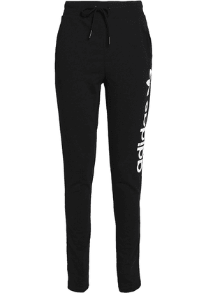 Adidas Originals Printed French Cotton-blend Terry Track Pants Woman Black Size 36