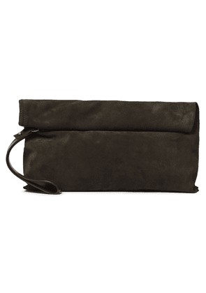Ann Demeulemeester Suede Clutch Woman Forest green Size --