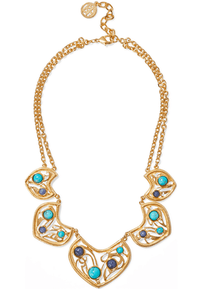 Ben-amun 24-karat Gold-plated, Turquoise And Stone Necklace Woman Gold Size --