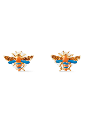 Ben-amun 24-karat Gold-plated, Swarovski Crystal And Enamel Earrings Woman Gold Size --
