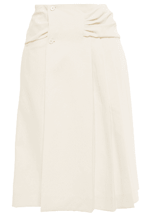 Carven Ruched Woven Skirt Woman Ivory Size 40