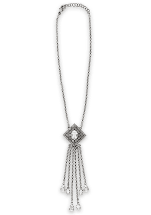 Christopher Kane Silver-tone Crystal Fringed Necklace Woman Silver Size --