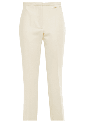 Carven Cropped Stretch-crepe Bootcut Pants Woman Cream Size 42
