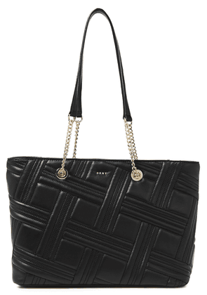 Dkny Allen Medium Quilted Leather Tote Woman Black Size --