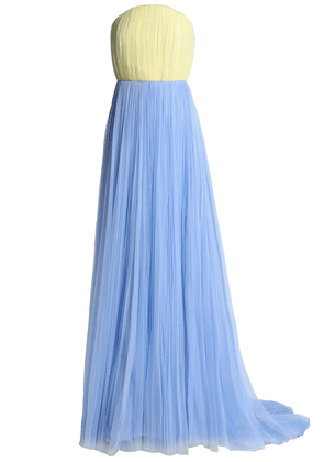 Delpozo Strapless Two-tone Tulle Gown Woman Light blue Size 42