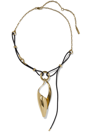 Ellery Odyssey Gold-tone And Faux Leather Necklace Woman Gold Size --