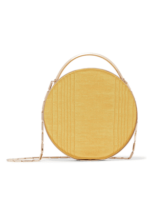 Eddie Borgo Gold-tone And Grosgrain Clutch Woman Mustard Size --