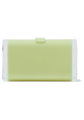 Edie Parker Lara Acrylic Box Clutch Woman Light green Size --