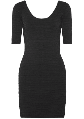 Elizabeth And James Lydia Textured Stretch-ponte Mini Dress Woman Black Size XS