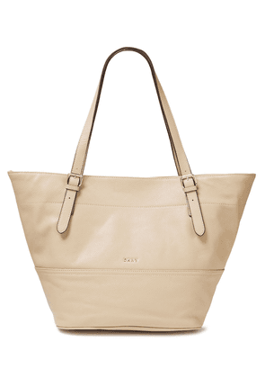 Dkny Pebbled-leather Tote Woman Beige Size --