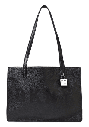 Dkny Commuter Medium Embossed Pebbled-leather Tote Woman Black Size --