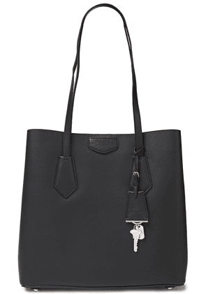 Dkny Textured-leather Tote Woman Black Size --