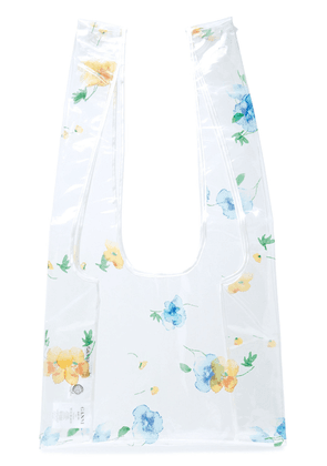 Ganni Petunia Floral-print Pvc Tote Woman Clear Size --